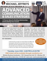 Advanced Communication & Sales Strategies featuring Michael Jeffries